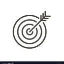 Medium target icon line goal symbol vector 21087523